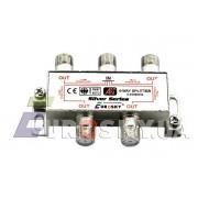 Eurosky Split 4 Way Power Pass (разветвитель на 4 TV с проходом питания)
