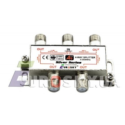 Eurosky Split 1/4 Power Pass way (делитель на 4 с проходом питания)