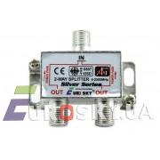 Eurosky Split 2 way Power Pass (разветвитель на 2 ТВ с проходом питания)