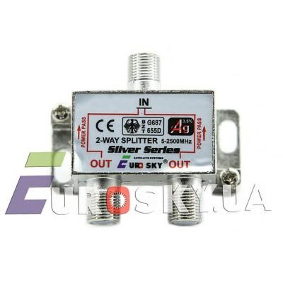Eurosky Splitter 1/2-way Power Pass с пропуском питания