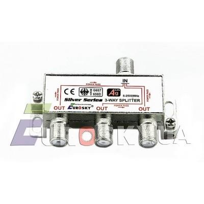 Eurosky Splitter 1/3-way Power Pass с пропуском питания