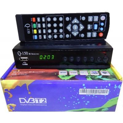 Q-Sat Q-150 (Т2 с Универсальным пультом, Metal, 7 кнопок, AC3, YouTube, IPTV, Megogo...)