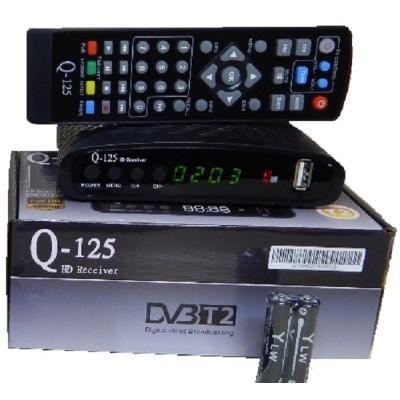 Тюнер Q-Sat Q-125 (Т2 с Универсальным д/у, YouTube, IPTV, Megogo...)