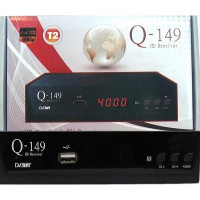 Q-149 Q-Sat (Т2 с Универсальным пультом, Металлический корпус, YouTube, IPTV, Megogo...)