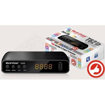 World Vision T62D - Т2 с YouTube, IPTV, Megogo, Kino-Live...