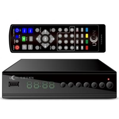 uClan T2 HD SE Metal (Internet T2 тюнер с программируемым пультом, 7 кнопок, IPTV, YouTube, Кинотеатр...)