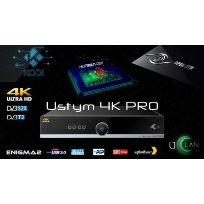 uClan Ustym 4K PRO (UltraHD тюнер DVB-S2X/S2/T2MI/T2 на Enigma2, IPTV, STALKER, YouTube, WEB TV, KODI и  др…)