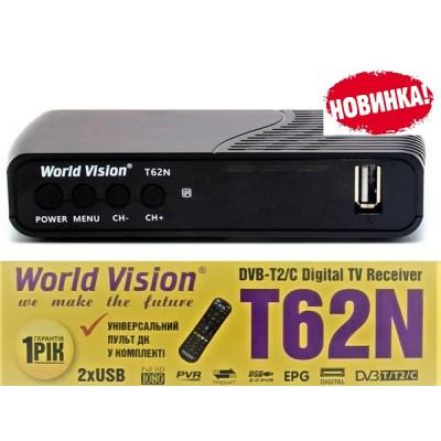 World Vision T62N T2 + RCU LRC (Обучаемый пульт в комплекте)