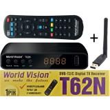 WV T62N + WiFi = Бесплатная доставка (T2 с интернет WiFi, LRC д/у, YouTube, IPTV, Megogo, Kino-Live)
