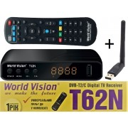WV T62N + WiFi (T2 с интернет WiFi, LRC д/у, YouTube, IPTV, Megogo, Kino-Live)
