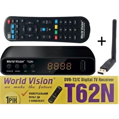 WV T62N + WiFi (Т2 тюнер с Универсальным пультом и WiFi, YouTube, IPTV, Megogo, Kino-Live, Погода...)